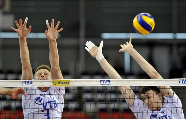 Сборная РФ  поволейболу обыграла команду США вматче Мировой лиги